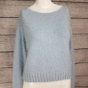 Topshop Cropped Fuzzy Sweater Pullover Soft 6